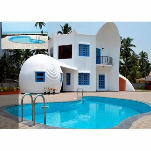 Shaped Residential Swimming Pool, Capacity: 1000 L