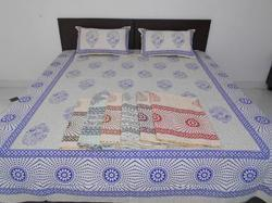 Mughal Printed Double Bedsheet With Pillow Cover