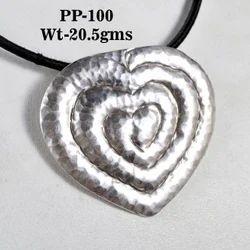 Heart Shape Sterling 925 Silver Pendant