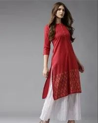 Stitched Casual Wear Indian Ethnic Designer Red Palzo Set