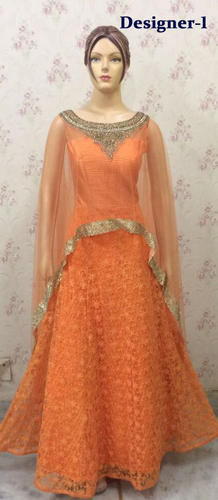 594182cb8 Dot Exports Party Wear Cape Style Anarkali Gown Suits for Ladies Floor  Length, Size: