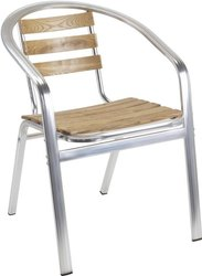 Decorative Aluminium Cafe Chair, For Restaurant