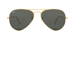 Ray Ban RB3025-58 Medium Golden Green Men Sunglasses