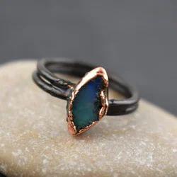 Fire Opal Gemstone Ring