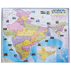 India Political And Physical Map At Rs 40 /piece | Political State Maps |  ID: 14516505588