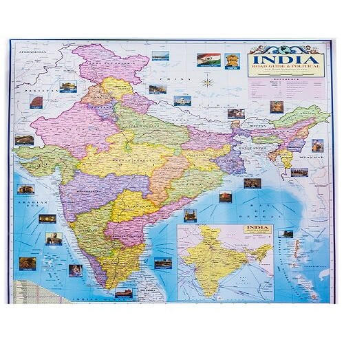 India Political And Physical Map At Rs 40 Piece Political State