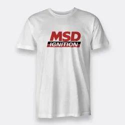 Cotton Mens White T-Shirt