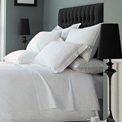 White Hotel Bed Sheet (Customisable)