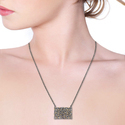 Diamond Baguettes Connector Pendant Handmade Jewelry
