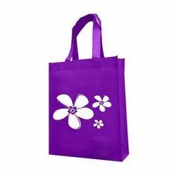 Offset Shopping Bags Purple Printed Non Woven Bag, Capacity: 5 Kg