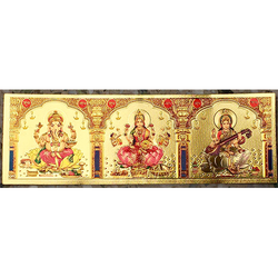Gold Plated Hindu Religious Posters