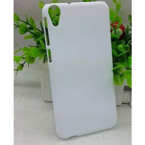 White Plastic Sublimation Plain Back Cover For HTC Desire 820