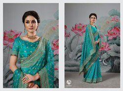 Ethnic Stylish Designer Embroidery Saree