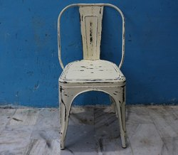 Metal Industrial Distress Finish Stackable Tolix Chair