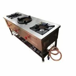 Three Burner Chinese Cooking Range