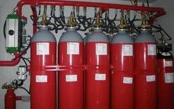 Intime Carbon Steel Clean Agent Gas Based Fire Suppression System, For Industrial
