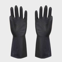 Black Rubber Industrial Gloves