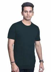 Black Plain and Printed Round Neck T Shirt