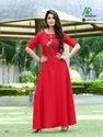 Embroidered Gown With Handwork