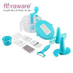 Sky Blue And White Floraware 10-in-1 Kitchen Box Blue Plastic Detachable Dough Maker