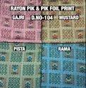 Rayon Pik & Pik Block Print Fabric