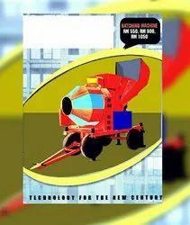 Diesel Engine Rm800 Concrete Mixer Machine, Drum Capacity: 500 L