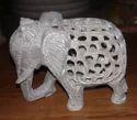 Soapstone Elephant Carved Soapstone
