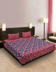 Dot Print Cotton Bedsheet