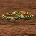 Cz Classic Bangles With Gold Plating 406460