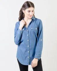 Blue RC Women Denim Shirt