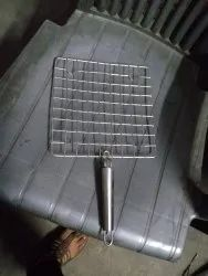 Roaster Stainless Steel 8'''''''' Size With Steel Pipe Handle(square shape)