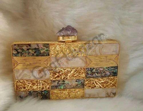Brass Ladies Clutch