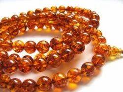 Stone Round Meditation Baltic Amber Mala