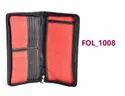 Red Jute Cheq Book Folder