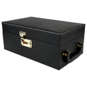 Black - 03 - Portable Leatherette Bar Set