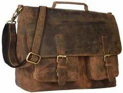 d94ce069693a Brown Prastara Leather Laptop Messenger Bag, Rs 2200 /piece | ID ...