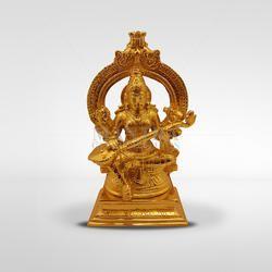 9376e3585ae Mantra Golden (Gold Plated) Brass Saraswati Statue