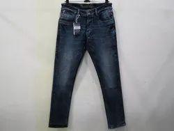 Mens Dark Blue Straight Fit Stretch Jeans(PW-014)