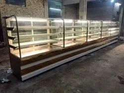 Glass Cake Display Counter non ac
