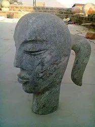 Handmade Marble Girl Face Sculpture