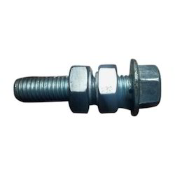 Flange Bolt and Nut, Size: 6x12