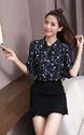 Small Flower Printed Trumpet Sleeve Top, Size: M And L