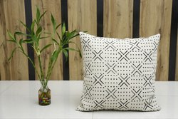 Mud Cloth Block Print Pillow Cover Rug Cushions Euro Sham Cotton Rug Cushion Cover