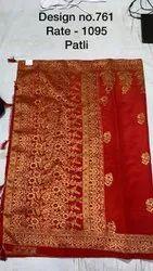 Wedding Wear Banarasi Silk Saree, Length: 6 m (With Blouse Piece)
