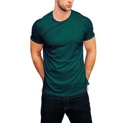 Half Sleeve Plain Svaraati Men's T-shirts, Size: Medium, Packaging Type: Poly-bag