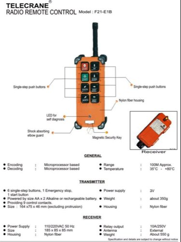 Eot Crane Wireless Radio Remote