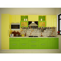 Colourful Straight Modular Kitchen