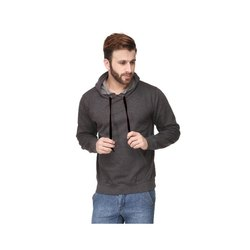 7ddc03dcf Cotton Men's Pullover Extra Long Hoodie With Curved Hem, Rs 520 ...