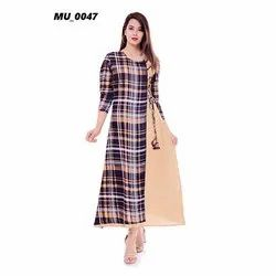 Check Fancy Ladies Kurti