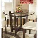 Applewood Saaghwood Glass Top Round Dining Tables